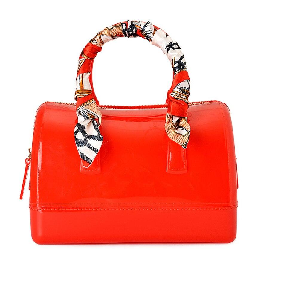 SUNNY BEACH Brand Fashion Female handbags Jelly bags PVC waterproof beach bag luxury 30cm Pillow bag for women