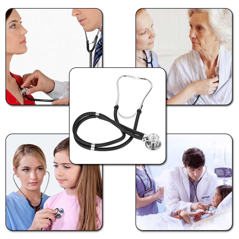 Professional Stethoscope Medical Double Dual Head Colorful Multifunctional Stethoscope Health Care Black Stethoscope spirit medical instruments pediatric stethoscope double sided majestic series neonatal dual head stethoscope for the doctor