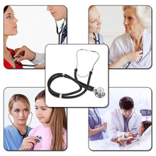 Professional Stethoscope Medical Double Dual Head Colorful Multifunctional Stethoscope Health Care Black Stethoscope