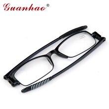 Guanhao, модные сверхлегкие вращающиеся складные очки для чтения, портативные тонкие очки TR90, оправа для мужчин и женщин, очки для дальнозоркости и дальнозоркости