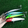 NOEBY 1pc Lot 76g 225mm Floating 6 8m Minnow Lure Fishing Lure 4color 3D Eyes Hook