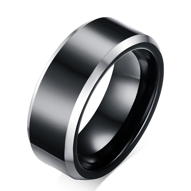 2017 Classic Mens Tungsten Ring Black Scratch Resistant