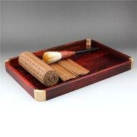 Red acid branch tray, mahogany tea set, red sandalwood dish, red sandalwood plate, black sandalwood tray, fruit tray, tea plate