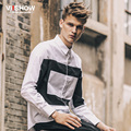 Casual Men Geometric Shirt Long Sleeve Mens Camisa Slim Fit Masculina Social Blouse Men Chemise Homme Mens Dress Shirt