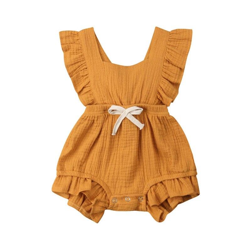 b43728e07 Telotuny 2019 nuevo bebé recién nacido bebé niña volantes ropa de una pieza  bebé niña verano sin mangas mono j3