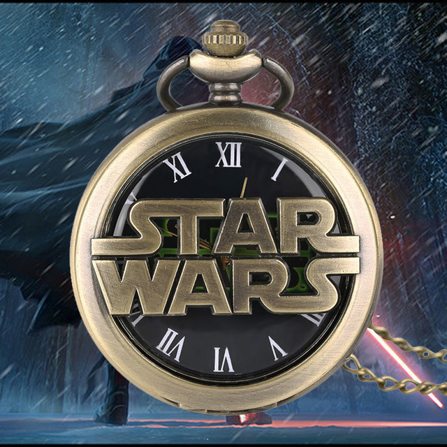 Fashion Darthworks Vader Design Cool Black Face Star War Quartz Pocket Watch Awe