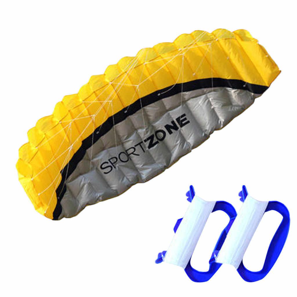 Кайт новый 2,5 м двойной линии парашют трюк спорт пляж Открытый Kitesurf летающие игрушки синий большой дети игрушки Воздушные Змеи воздушные змеи для взрослых