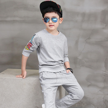 Pioneer Kids 2016 New Coat None Spiderman for Boy Set Hot Sale Summer Boys Sport Children Long Sleeve Shirt Clothing Suit Outfit