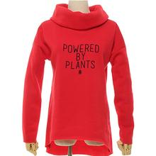 Powered By Plants scarf neck sweater