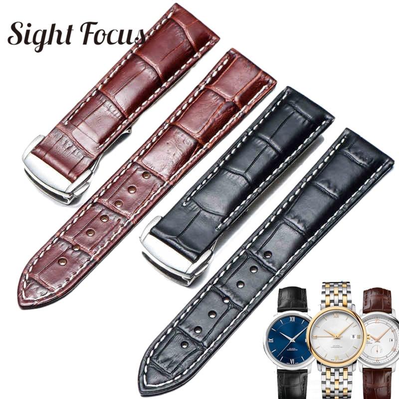 Italian Calfskin Leather Watch Straps For Omega Watch Seamaster Speedmaster De Ville Band 19mm 20mm 21mm Watch Belt Men Bracelet