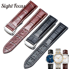 Italian Calfskin Leather Watch Straps for Omega Watch Seamaster Speedmaster De Ville Band 19mm 20mm 21mm Watch Belt Men Bracelet
