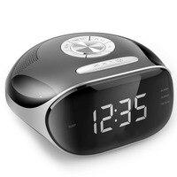 2017 New Radio Alarm Clock LED Digital Timer Display Plastic Double Alarm USB Charge Output Large