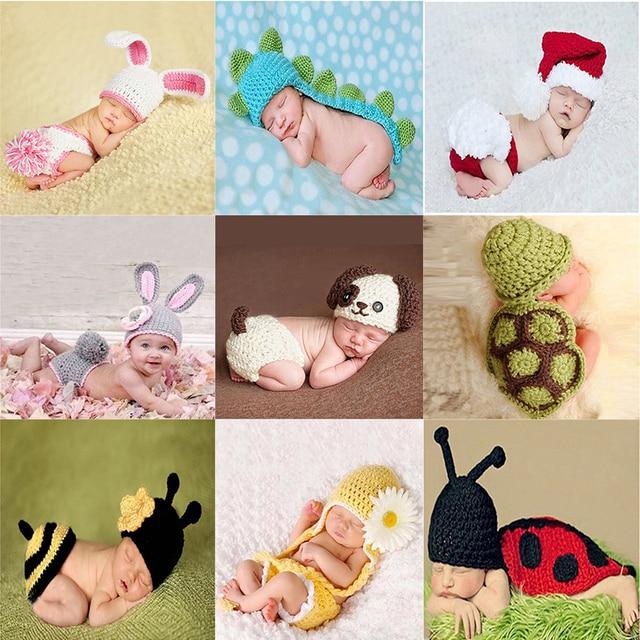 Neugeborenen Häkeln Tiere Zeichnungen Baby Baby Foto Bild Anzug