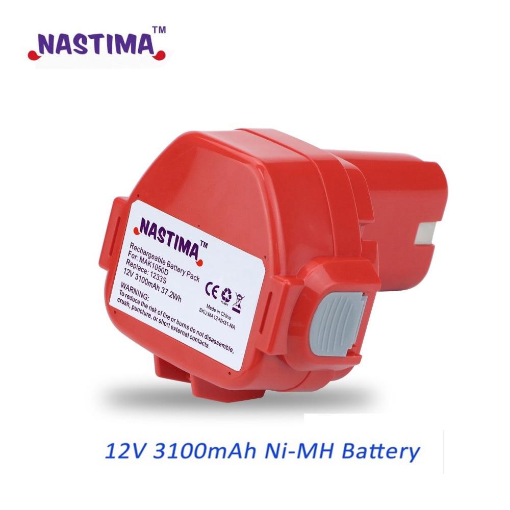 NASTIMA Upgrade 12v 3100mAh NIMH Replacement Battery for Makita 1220 PA12 1222 1233S 1233SA 1233SB 1235 1235A 1235B 192598-2 аккумулятор makita 12в 1 8ач nimh тип 1235 193059 5