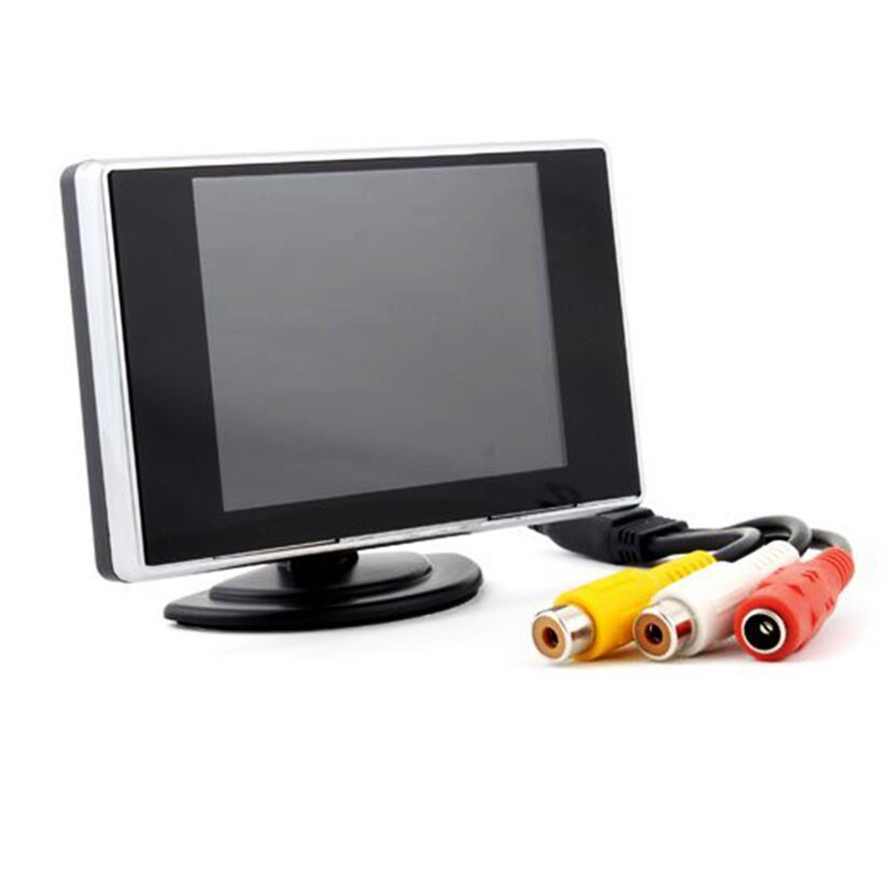 Universal 3.5 Inch TFT LCD 2 Video Input Car Monitor Auto Parking Reverse Backup Monitorfor DVD Rear View camera
