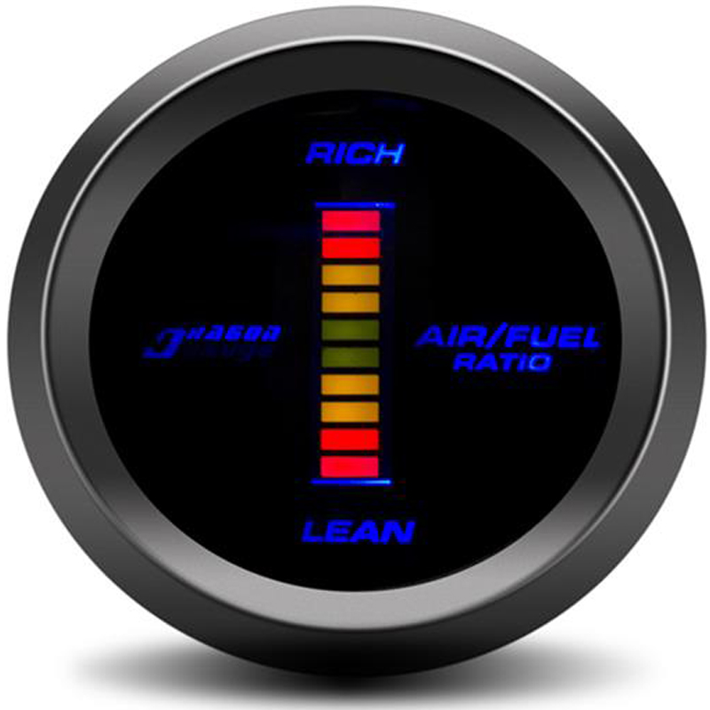 52mm Digital Air Fuel Ratio Gauge Auto Car LED Kit Turbo Gauge Sensor Auto Tachometer Compteur Voiture Racing For Audi Tt