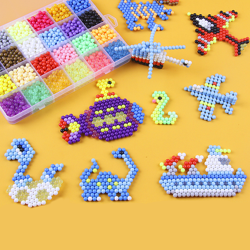 30 Colors Aqua DIY Complete Set Magic Beads Aqua Beads Perlen 3d Puzzle Aqua toys for children Birthday Gift Hama Beads Perler