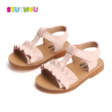 Toddler Girl Sandals Summer Kids Shoes Casual Non-slip Leather Lace Girls Princess Shoes Children Beach Sandals Baby Shoes
