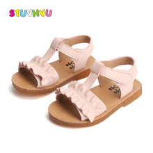 Toddler Girl Sandals Summer Kids Shoes Casual Non-slip Leath