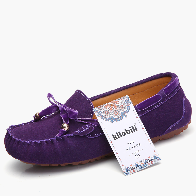 kilobili women ballet flats shoes suede leather slip on riband knot driver loafers ladies women casual moccasins Spring Summer-in Women's Flats from Shoes    2