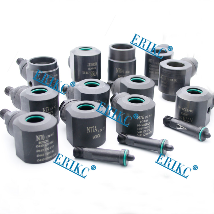 ERIKC common rail injector clamping tools and fuel injection repair equipments to hold injectors on test bench 12 pieces