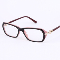 2016 New Arrival Eye Glasses Women Acetate Spectacle Frame Prescription Glasses Full Rim Eyeglasses Myopia Glasses
