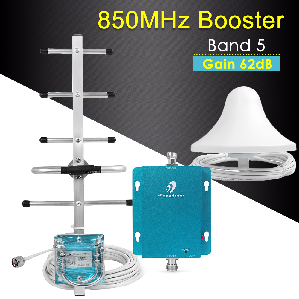 3G Repeater CDMA 850MHz Cellular Signal Booster Band 5 Mobile Signal Repeater 62dB GSM Repeater 850 3G Signal Booster Amplifier