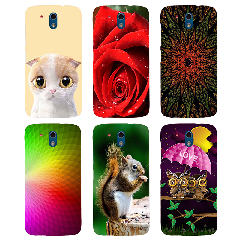 Case For HTC Desire 326G / Desire 526 526G dual sim 526G+ Back Cover Flower Plants Original Printed Cat Owl Animal Phone Case