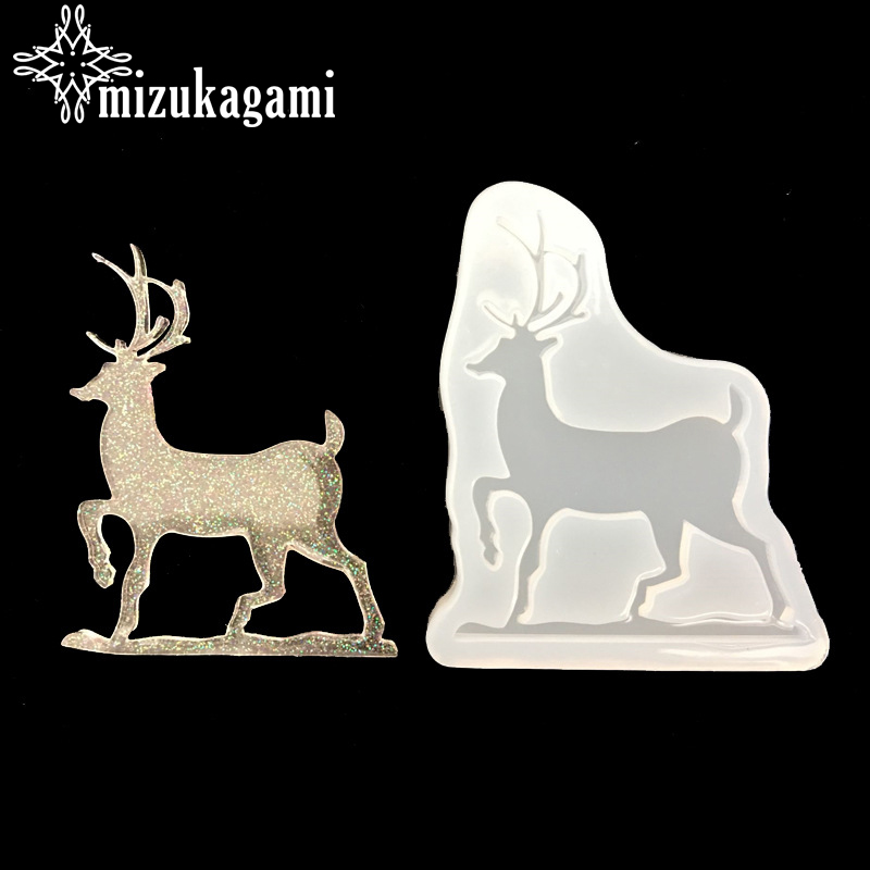 1pcs UV Resin Jewelry Liquid Silicone Mold Christmas Deer Animal Resin Charms Molds For DIY Intersperse Decorate Making Jewelry
