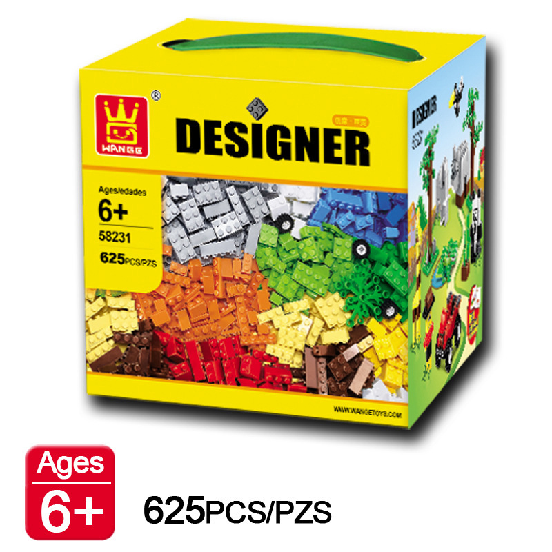 625pcs/set Educational Building Blocks DIY Toys Compatible With Lego Creative Bricks For Child Early Learning Assembly Toys