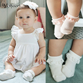 YOLFEERT Breathable Lace Pattern Cotton 2016 Summer Baby Socks Newborn Boy Girl Infant Solid Color Children Short Sock