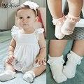 Yolfeert transpirable de algodón patrón de encaje 2016 summer calcetines del bebé recién nacido niño niña niño color sólido calcetines niños calcetín corto