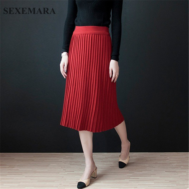 Купить юбку трикотажную теплую