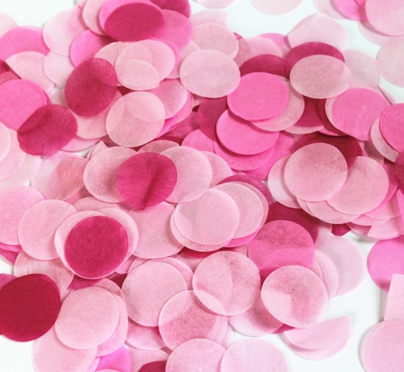 2000 Cerise Bébé Rose /& Blanc Coeurs Mariage Confettis Fête Décoration