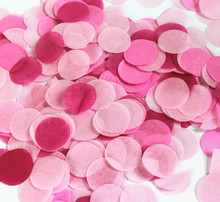 wedding confetti biodegradable circle tissue paper