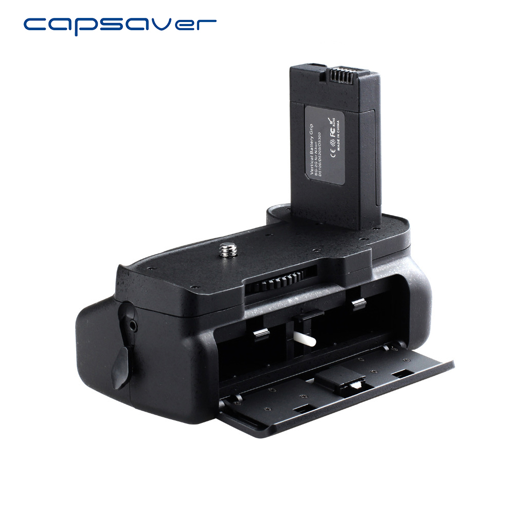 Capsaver Vertikal Batterihåndtak for NIKON D5100 D5200 D5300 Multi-Power Batteri Grip Holder Arbeid med EN-EL14