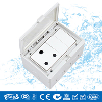 Electric Socket, PVC South African Waterproof Wall Switch Socket Outlet,110~250V/16A High Temperature Pop Socket,2017 CNSKOU