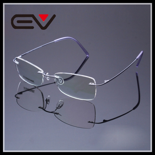 4c60f652f7f Women New Design Rimless Titanium Frame Men Optical Myopia Eyeglasses  Aemacao de Oculos De Grau Feminino EV0454