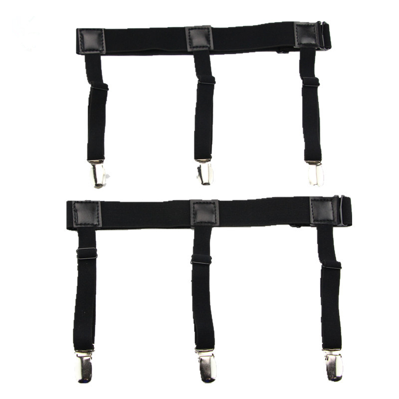 20733e415 Mens Shirt Stays Garters Elastic Nylon Adjustable Shirt Holders Crease-Resistance  Belt Stirrup Style Suspenders