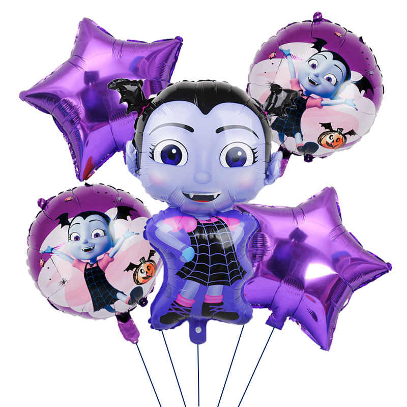 5 Pcs Vampirina Birthday party Balloons decor Witch Helium Foil Balloons Children Toys Globos Halloween Party vampirina Balloon