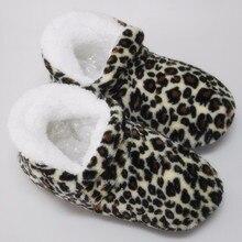 100% реальные фото зимние женские высокие тапочки из хлопчатобумажной ткани теплые плюшевые домашняя обувь с леопардовым принтом нескользящая мягкая подошва домашние тапочки