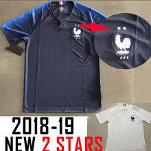 0d6c733ea663e 2019 shirt 2 stars France jersey 2018 Soccer Jerseys MBAPPE GRIEZMANN POGBA  Jersey 18 19 de