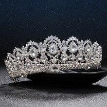 Европейский диадема caroque большая корона кристалл тиара свадебный королева короны невесты со стразами диадемы аксессуары для волос для глава ювелирные изделия