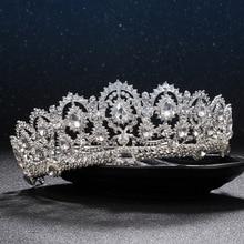 European diadem Caroque big Crown Crystal tiara wedding queen crowns bride rhinestone tiaras hair accessories for head jewelry