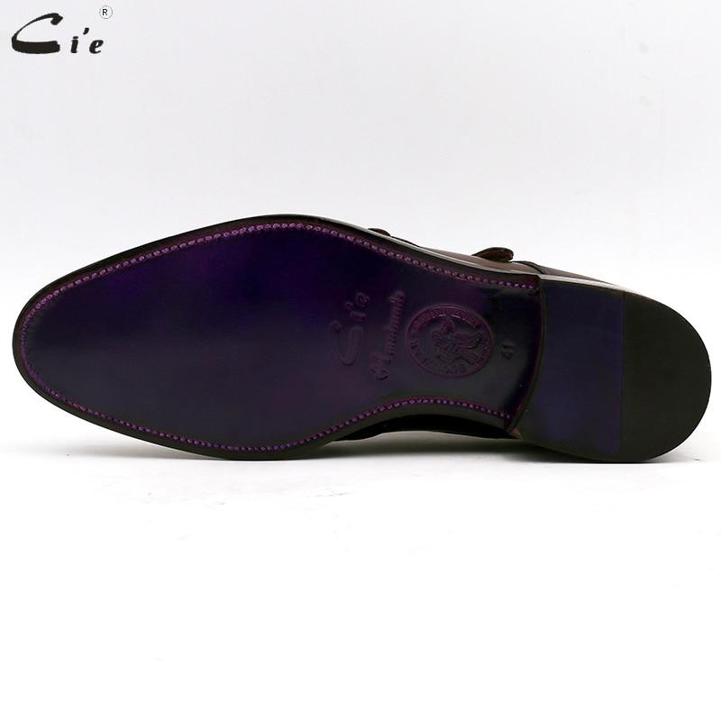 Image 5 - cie Round Toe Brogues Full Grain Genuine Calf Leather Formal Shoes Custom Mens Dress Monk Straps Office Shoe Men Elegant MS00Formal Shoes   -