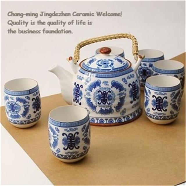 Japanese Style 1 teapot 6 tea cups