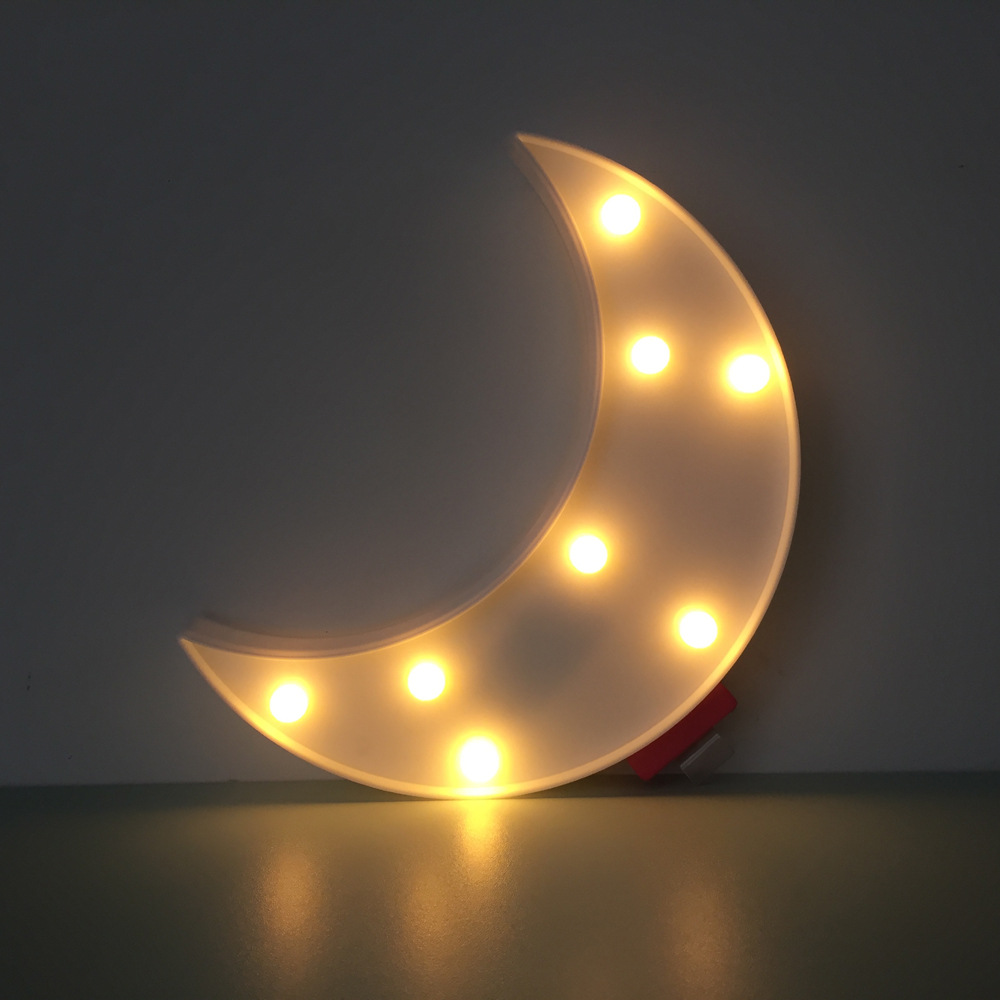 Led Christmas Wall Lights : LED Moon 3D Night Light Creative Wall Lamp Kids Room Bedroom Lamp Christmas light Party Home ...