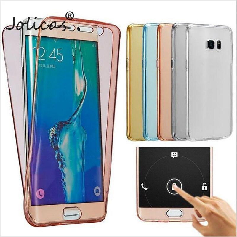 360 Full body TPU Case For Samsung Galaxy S8 case Plus S5 S6 S7 Edge A3 A5 2017 A7 J1 2016 J3 J5 2017 J7 Prime Cover Back Cases