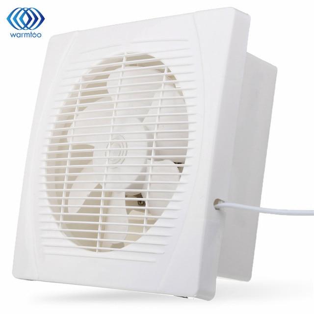 White 30w 8 Inch Ventilation Extractor Exhaust Fan Er Window Wall Kitchen Bathroom Toilet Hole Size 230x230mm Us Plug