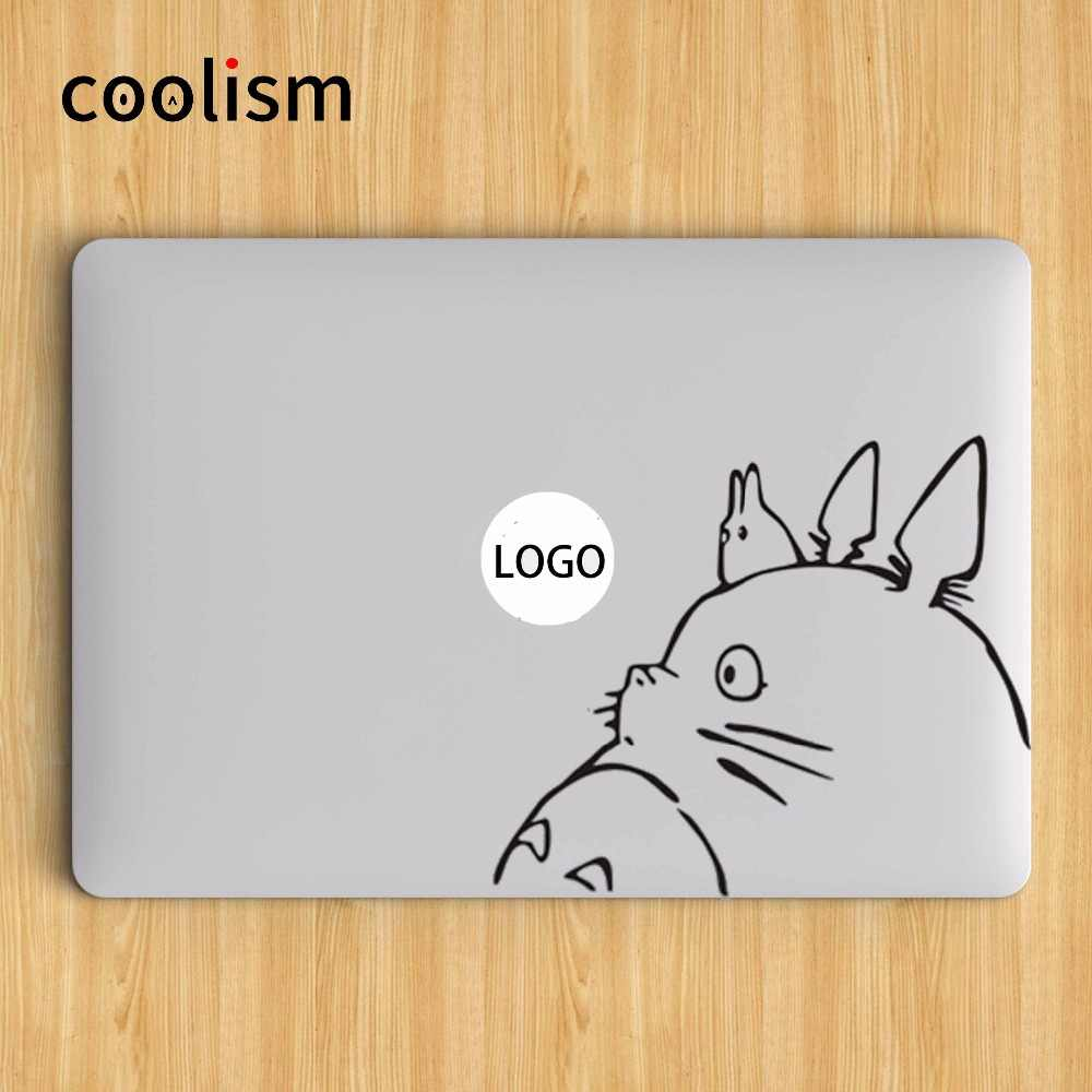 Totoro Potret Laptop Decal Sticker untuk Macbook Decal Air 13 Pro Retina 11 12 15 inch Mac Permukaan Buku Chromebook Skin Sticker